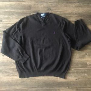 Polo by Ralph Lauren Black V-neck Sweater